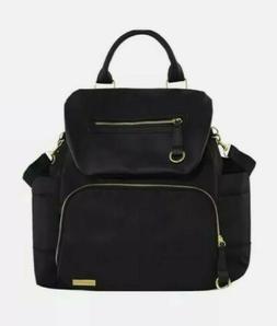 Skip Hop Chelsea Downtown Chic Diaper Bag Backpack Black USE