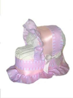 Classic Pastel Baby Shower Diaper Cake