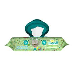 Pampers Natural Clean Unscented Water Baby Wipes Pop-Top Pac