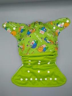 Cloth diaper SassyCloth one size pocket diaper with adventur