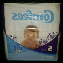 Comfees Baby Diapers ~ Size 5 ~ Case of 4 Packs ~ 108 Diaper