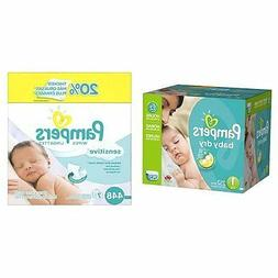 Count 252 Pampers Baby Dry Diapers Economy Pack Plus Size 1
