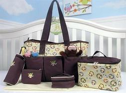SoHo diaper bag Curious Monkey 7 pieces set nappy tote bag f