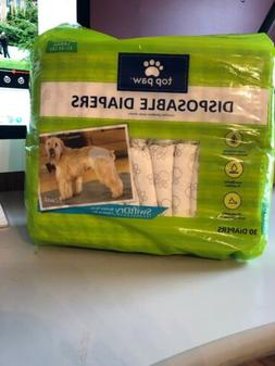 Top Paw,Designer Disposable Diapers, For Dogs, Size Large, 3