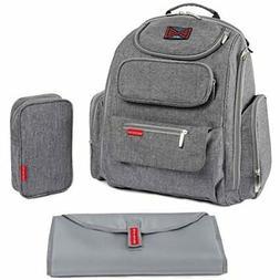 Bag Nation Diaper Bag Backpack with Stroller Straps, Changin