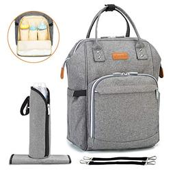Diaper Bag Baby Backpack with Changing Pad, Multi-Function T