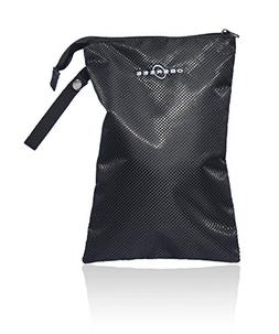 Obersee Diaper Bag Organizer with Wet Pouch, Black