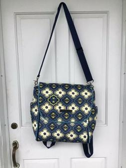 Petunia Pickle Bottom Diaper Bag/back Pack Blue & White New