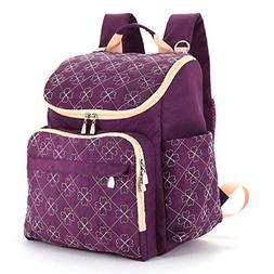 Diaper Bag Backpack with Baby Stroller Straps by HYBLOM, Sty