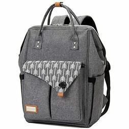 diaper bag backpack for mom in grey