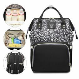 Diaper Bag Backpack Leopard Maternity Nappy Baby Bag Organiz