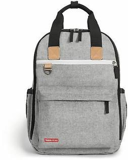 Skip Hop Duo Baby Diaper Bag Backpack w/ Changing Pad Grey M