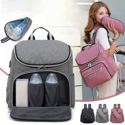 Diaper Bag Backpack with USB Charging Port Diaper Bag for Gi