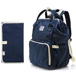 Quatre & Co Diaper Bag Backpack - Large Capacity Waterproof