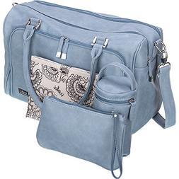 Isoki Baby Diaper Bag with 13 Pockets  Large Blue Tote for y