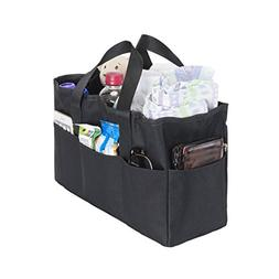 Diaper Bag Insert Organizer for Mom with 5 Outside & 6 Insid