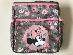 Diaper Bag Lunch Tote Small Disney Minnie Gray Pink Green Fl