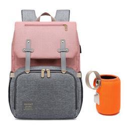Diaper Bag Mummy Backpack Baby Stroller USB Charging Waterpr