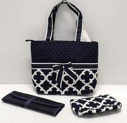 Diaper Bag Navy/White Moroccan Print Changing Pad Accessory