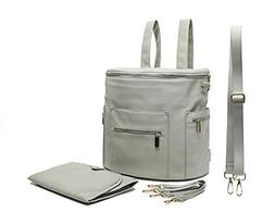 Leather Diaper Bag Backpack by Miss Fong, Diaper Backpack wi