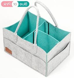 Diaper Caddy, Nursery Storage Bin & Tote Bag for Car Travel