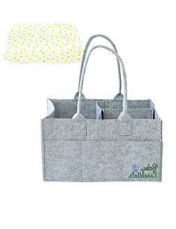 Baby Essentials Diaper Caddy - Nursery Storage Bin and Car O