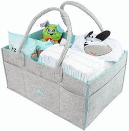 Ooki Baby Large Diaper Caddy - Minimalist Nursery Tote Bag |