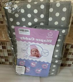 "BabyLina Diaper Caddy Organizer XL 15""x11""x 9"" Polka Dot Gre"