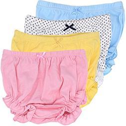 CeeDeek Baby Diaper Covers Combed Cotton Panties 4 Pack Cart