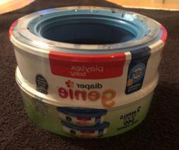 Playtex Diaper Genie Pail 2 Pack Refill 540 total diapers