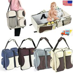 3-in-1 Diaper Tote Bag Baby Bed Bassinet Nappy Changing Stat