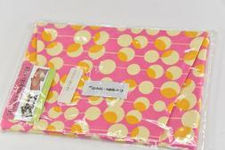 THE DIAPER CLUTCH Diaper / Wipe Bag Case - Pink White Yellow