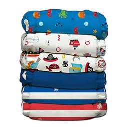 Charlie Banana 6 Piece Diapers with 12 Inserts Hybrid AIO, O