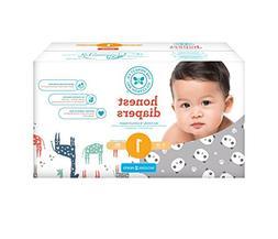 Honest Baby Diapers, Club Box, Pandas & Multi Colored Giraff