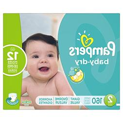 Pampers Baby Dry Diapers Size 2 Giant Pack, 160 ea