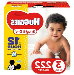 Huggies Snug & Dry Diapers, Economy Plus Pack, Size 3, 222 e