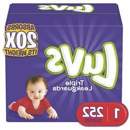 Diapers Newborn / Size 1 , 252 Count - Luvs Ultra Leakguards