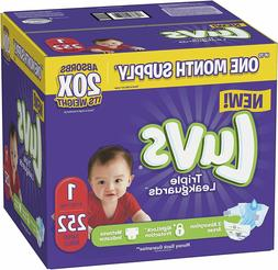 Diapers Newborn / Size 1 , 252 Count - Ultra Leakguards Disp