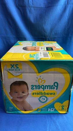 Diapers Size 2, 124 Count - Pampers Swaddlers  Baby Diapers