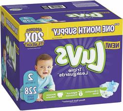 Diapers Size 2, 228 Count - Ultra Leakguards Disposable Baby