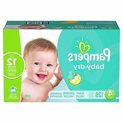 Diapers Size 4 128 Count - Pampers Baby Dry Disposable Baby