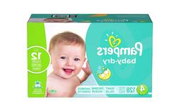 Diapers Size 4, 128 Count - Pampers Baby Dry Disposable Baby