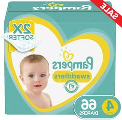 Diapers Size 4, 66 Count - Pampers Swaddlers Disposable Baby