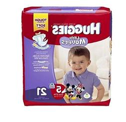 Huggies Little Movers Diapers, Jumbo Pack, Size 5, 21 ea