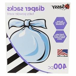 Sassy Baby Disposable Diaper Sacks, 400 Count