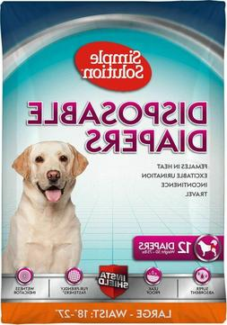 Simple Solution Disposable Diapers for Dogs, Large, Pack of