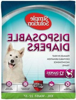 SIMPLE SOLUTION DISPOSABLE DIAPERS FOR DOGS - WEIGHTS OVER 7