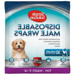 Simple Solution Disposable Dog Diapers for Male Dogs | Male