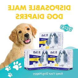 senye Disposable Dog Diapers for Male Female Wraps Leakproof