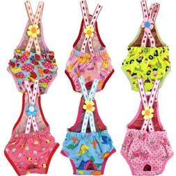 Dog Puppy Female Diaper Sanitary Pants Suspenders Stay On fo